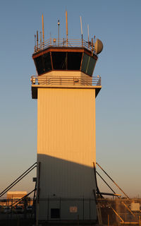 Ellington Airport (EFD) - the control tower in the morning - by olivier Cortot