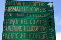 Kahului Airport (OGG) - Helicopter operations are situated in a separate location of Kahului Airport. - by Tomas Milosch