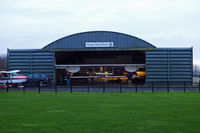 Wickenby Aerodrome Airport, Lincoln, England United Kingdom (EGNW) - the Skunk Works hangar at Wickenby - by Chris Hall