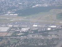 Teterboro Airport (TEB) - On final into EWR with the Boeing 757-200 Passing Teterboro NJ Rgnl Airport - by Christian Maurer