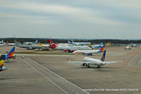 Manchester Airport, Manchester, England United Kingdom (EGCC) - Terminal 2 remote stands - by Chris Hall