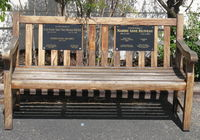 Santa Paula Airport (SZP) - Tribute Bench-Fallen Aviators, at CP Aviation Office entry - by Doug Robertson