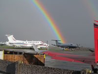 Fairoaks Airport - bit stormy today! - by magnaman