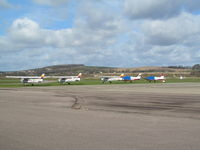 Shoreham Airport - part of line up on apron - by magnaman
