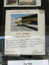 Santa Paula Airport (SZP) - Aircraft FOR SALE posting - by Doug Robertson