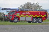 Cardiff International Airport - Fire & Rescue 1 at EGFF. - by Derek Flewin