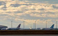 Leipzig/Halle Airport, Leipzig/Halle Germany (EDDP) - Big babies under a dramatic sky...... - by Holger Zengler