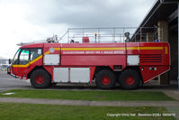 Gloucestershire Airport, Staverton, England United Kingdom (EGBJ) - Staverton fire truck - by Chris Hall