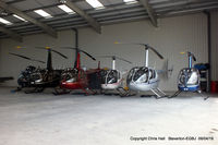 Gloucestershire Airport, Staverton, England United Kingdom (EGBJ) - Helicopters hangared at Staverton - by Chris Hall