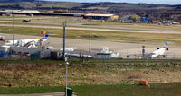 Aberdeen Airport, Aberdeen, Scotland United Kingdom (EGPD) - Main apron at Aberdeen EGPD - by Clive Pattle