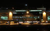 Miami International Airport (MIA) - Terminal at night - by Florida Metal
