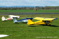 Sleap Airfield Airport, Shrewsbury, England United Kingdom (EGCV) - visitors at the Vintage Piper fly in, Sleap - by Chris Hall
