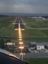 Bodensee Airport - Approach to land on runway 06 in the late evening - by Jean M Braun
