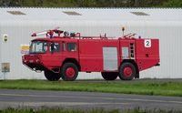 Pembrey Airport, Pembrey, Wales United Kingdom (EGFP) - Ex-Royal Navy Carmichael Fire and Rescue tender No.2. - by Roger Winser