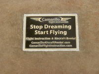 Camarillo Airport (CMA) - Camarillo Flight Instruction Tribute Plaque at CMA Aircraft Public View Park - by Doug Robertson