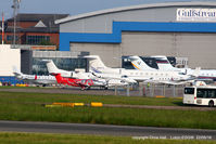 London Luton Airport - Bizjets at Luton - by Chris Hall
