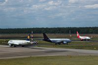 Tegel International Airport (closing in 2011), Berlin Germany (EDDT) - Outbound traffic pics at it´s best you´ll get above of stand 6 to 8 on visitor´s terrace..... - by Holger Zengler