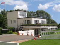 Goodwood Airfield - old control tower - now cafe - by magnaman