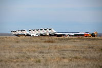 Roswell International Air Center Airport (ROW) - American Airlines DC9-8x line up at Roswell New Mexico - by Pete Hughes