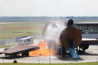 Leipzig/Halle Airport - View from visitor´s hill to airports Fire Training Center ..... - by Holger Zengler