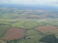 Bedford Castle Mill Airport - Only part of old runway now used - viewed on way from Cambridge to Exeter - by magnaman