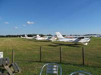 Denham Aerodrome Airport, Gerrards Cross, England United Kingdom (EGLD) - view of line ups from cafe - by magnaman