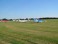 Denham Aerodrome - g-jamp plus friends on west grass apron - by magnaman