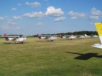 Denham Aerodrome - G-GFIG AND FLYING CLUB PALS - by magnaman