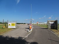 Lasham Airfield - west gate - by magnaman
