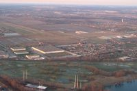 Lansing Municipal Airport (IGQ) - Looking SW from 2500 ft. - by Bob Simmermon