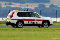 Dundee Airport, Dundee, Scotland United Kingdom (EGPN) - Fire 4 on patrol at Dundee Riverside EGPN - by Clive Pattle