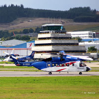 Aberdeen Airport, Aberdeen, Scotland United Kingdom (EGPD) - Aberdeen Tower with resident. - by Clive Pattle