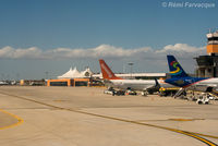 Los Cabos International Airport, Los Cabos, Baja California Sur Mexico (MMSD) - View of main parking area in front of terminal building as taxiing for take-off. - by Remi Farvacque