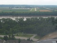 Creve Coeur Airport (1H0) - On final for RWY 16 - by Bob Simmermon