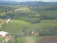 Northumberland County Airport (N79) - Base to final for runway 26 - by Bob Simmermon
