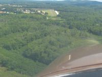 Simsbury Airport (4B9) - Base to final for runway 3 - by Bob Simmermon