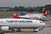 Tegel International Airport (closing in 2011) - Turkish-German parity on apron.... - by Holger Zengler
