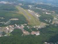 Hazleton Municipal Airport (HZL) - Looking NW - by Bob Simmermon