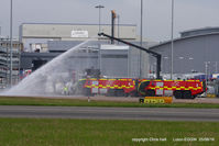 London Luton Airport - fire practice at Luton - by Chris Hall