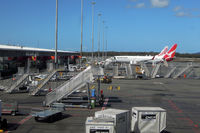 Gold Coast Airport - Lots of stairs at an airport that made a conscious decision not to build any airbridges, and stay with the low cost model... - by Micha Lueck