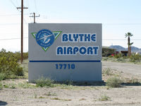 Blythe Airport (BLH) - welcome to blythe airport - by olivier Cortot