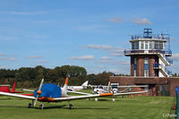 City Airport Manchester - Tower and GA park at Manchester City Airport, Barton EGCB - by Clive Pattle