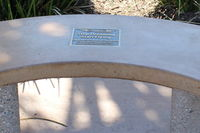Camarillo Airport (CMA) - Tribute Bench at CMA's public Aircraft View Park outside the Waypoint Cafe. - by Doug Robertson