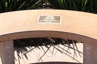Camarillo Airport (CMA) - Tribute Bench at CMA's public Aircraft View Park outside the Waypoint Cafe in full sun - by Doug Robertson