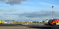 Blackpool International Airport, Blackpool, England United Kingdom (EGNH) - Facing east view at Blackpool EGNH - by Clive Pattle