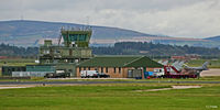 RAF Lossiemouth - Air Traffic Tower at RAF Lossiemouth EGQS during Exercise Joint Warrior 16-2 - by Clive Pattle