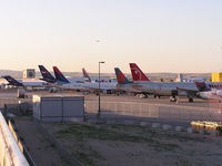 Boise Air Terminal/gowen Fld Airport (BOI) - North ramp of concourse B. - by Gerald Howard