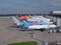 Manchester Airport, Manchester, England United Kingdom (EGCC) - Taken from Car Park roof - by Keith Sowter