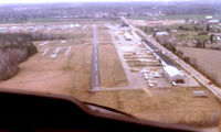 Washington Executive/hyde Field Airport (W32) - Landing in a C-152. Andrews AFB (ADW) is just 4 miles ahead. Yes, I know I'm a little high. Scanned from 35mm photo. Flying was easy in the 80s around Washington, D.C. - by Gerald Howard