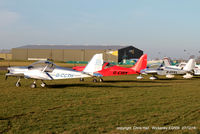 Wickenby Aerodrome Airport, Lincoln, England United Kingdom (EGNW) - EV-97s at the Turkey Curry fly in, Wickenby - by Chris Hall